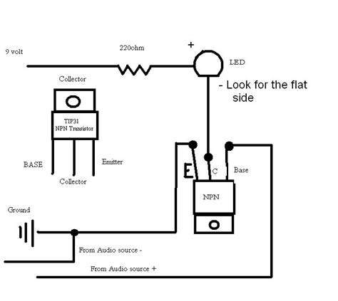transistor darlington tip31 led to sync barely blinking even with lifier electrical engineering stack exchange