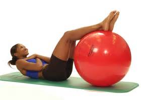 pro series exercise ball abdominal curl   supine