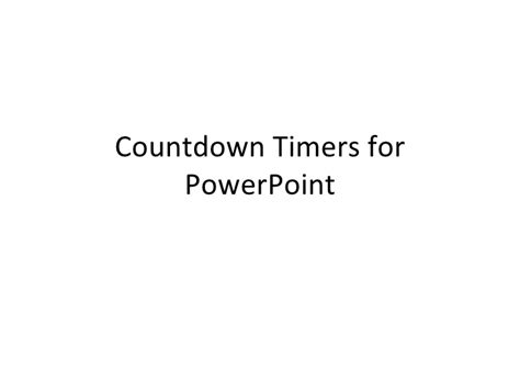 Countdown Timers For Power Point 1 Countdown For Powerpoint