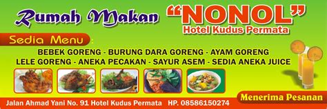 contoh desain menu kedai makan contoh desain banner rumah makan desaingrafisindo