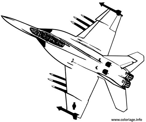 Great Coloriage Avion De Chasse Dessin Imprimer With