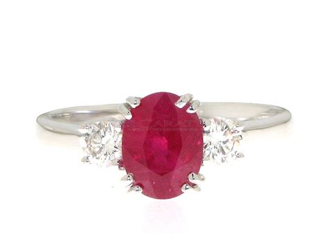 Ruby 11 3ct ruby and ring 0 3ct 18carati