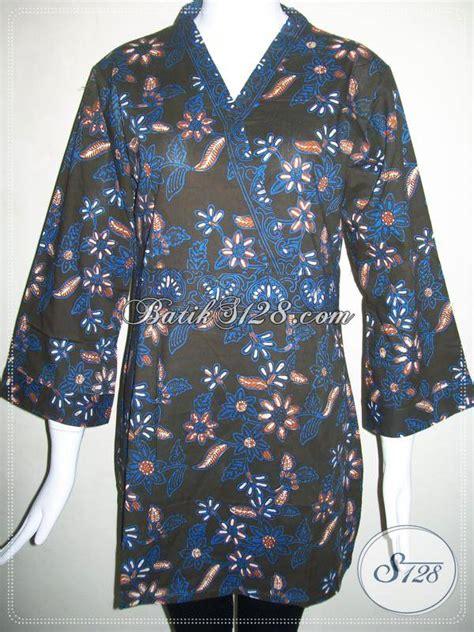 Kimono Santai Wanita Dan Pria jual blus batik wanita model kimono warna kombinasi biru hitam baju batik modern 2018 pria dan