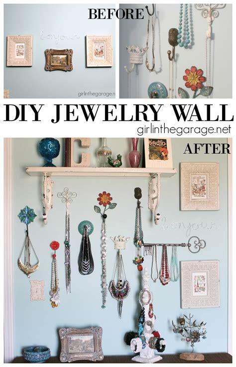 diy jewelry wall display in the garage 174