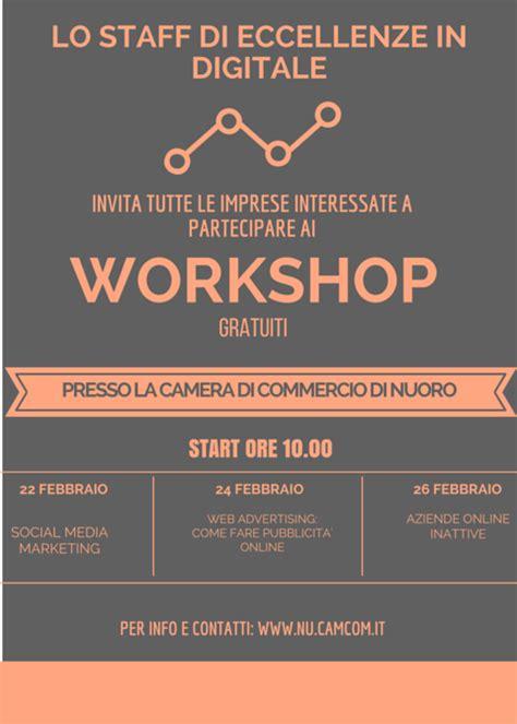 imprese iscritte alla di commercio 3 workshop gratuiti per le imprese alla di