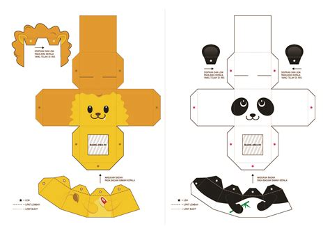 Paper Animals Craft - le 227 o panda papercrafts e moldes paper