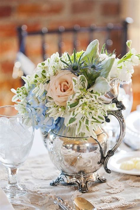 cwnterpices in silver tea pots   vintage silver teapot