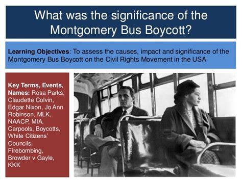 Montgomery Boycott Significance Essay by Montgomery Boycott