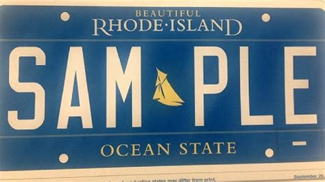 rhode island license plate design  hold wjar