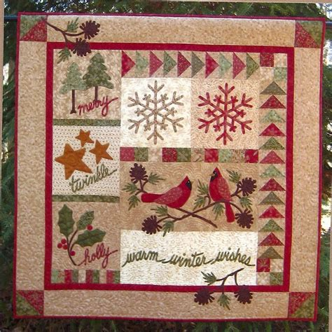 Wall Quilt Primitive Folk Wall Quilt Pattern Warm By Primfolkartshop