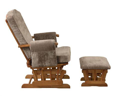 armchair glider kub ashdown dark finish glider chair and footstool amazon