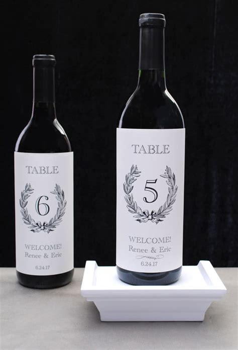 Wine Label Table Number Template wedding table numbers a review of 4 diy wine theme