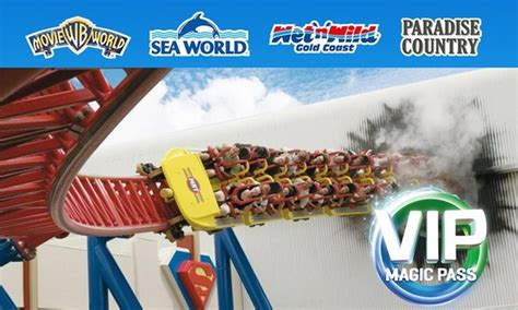 theme park deals gold coast unlimited vip magic pass village roadshow theme parks