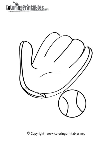 free coloring pages of baseball mitt