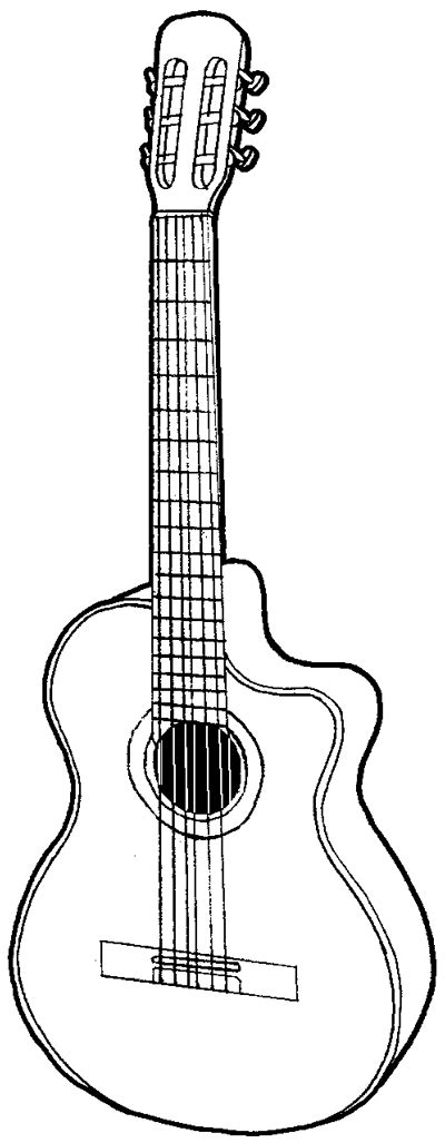 tutorial guitar easy how to draw a guitar with easy step by step drawing
