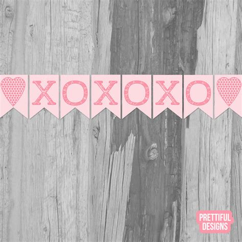 xoxo printable banner valentine xoxo banner printable instant download by
