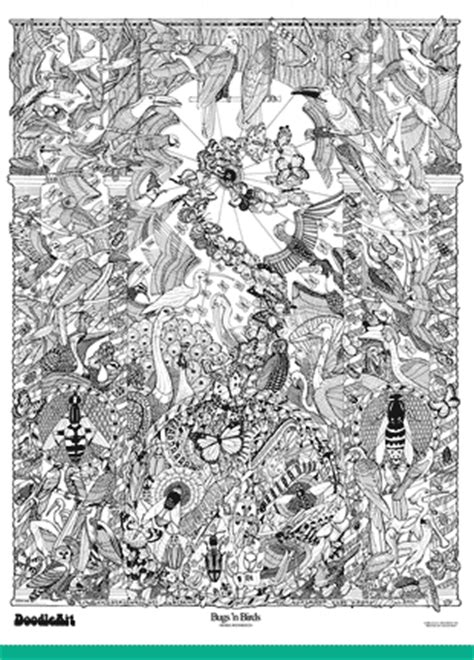 doodle jungle poster doodleart posters bugs n birds