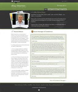 exles create a memorial website with book of