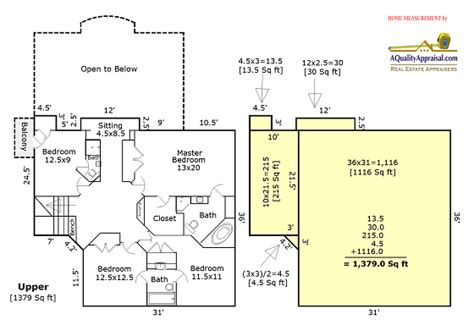 How To Measure Floor Plans by Portland Oregon Real Estate Appraisal Blog Gary F