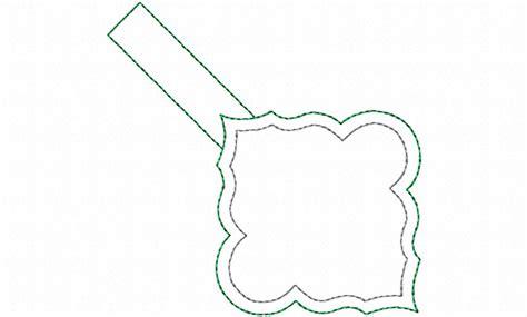 key fob template blank frame in the hoop snap tab key fob machine