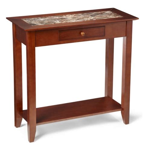 hall accent table heritage cherry wood marble style hall end table ebay