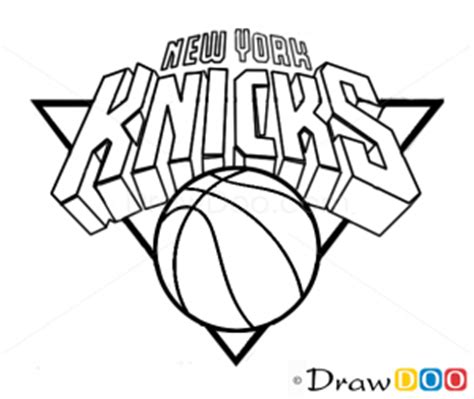 knicks basketball coloring pages how to draw new york knicks basketball logos