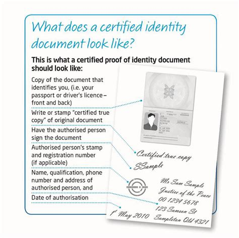 Certifying Documents Wording