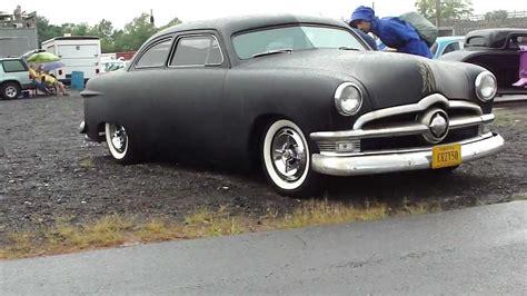 Flat Black Shoebox 1950 Ford 50 Ford Low Rider Custom Chopped Dropped Lead Sled