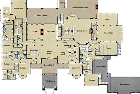 mediterranean mansion floor plans 18 000 square newly built mediterranean mansion in