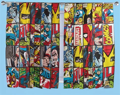 superhero curtains marvel marvel comics defenders curtains 66 quot x 54 quot 66 quot x 72 quot drop