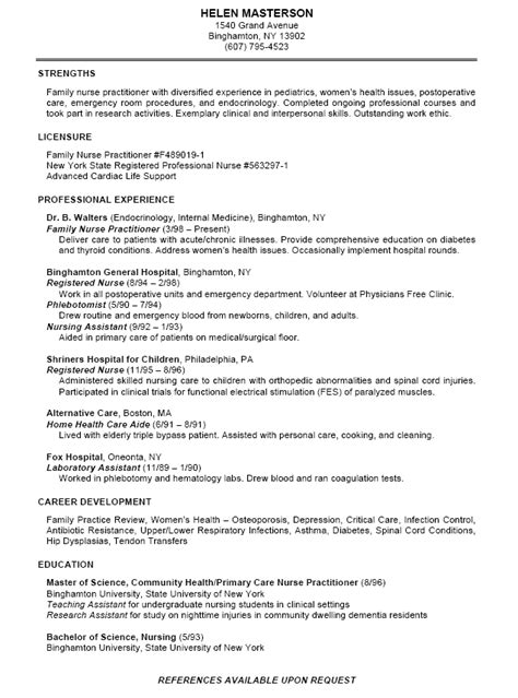 professional nursing resume template nursing