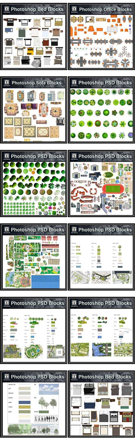 dwg format photoshop photoshop psd blocks bundle high quality dwg files