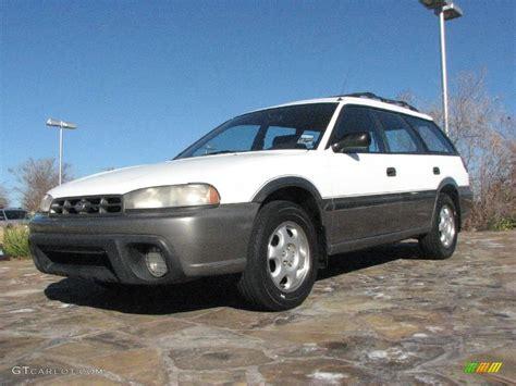 white subaru wagon 1996 glacier white subaru legacy outback wagon 1772325