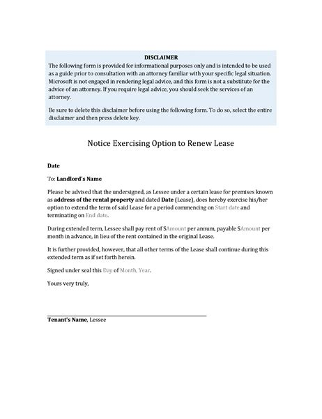 Letter Asking For Lease Extension sle letter of lease renewal to landlord 10 lease termination letter templates free sle