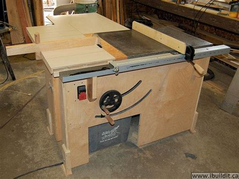 build a table saw bench how to make a table saw ibuildit ca