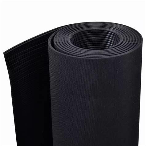 Rubber Floor Mat Anti Slip    Fine Ribbed Vidaxlcom