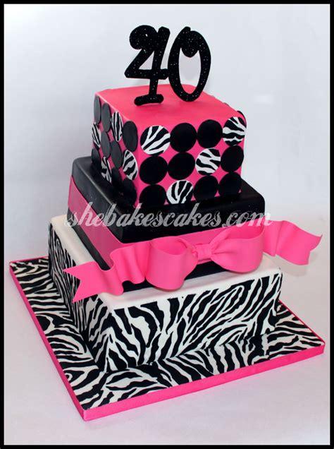 zebra pattern fondant 40th birthday zebra fondant cake she bakes cakes llc