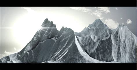 How To Make A 3d Mountain Out Of Paper - 3d mountain after effects element 3d and cinema 4d