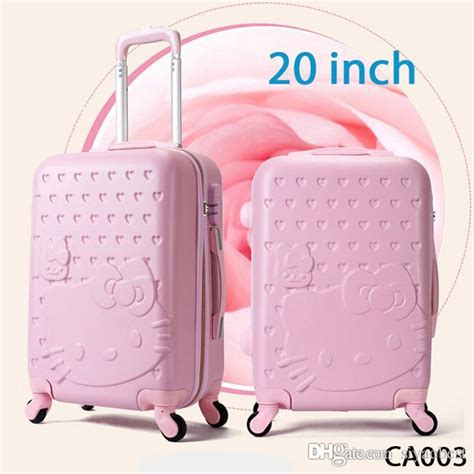 20 inch spinner hello suitcase abs luggage bag travel bag hello luggage