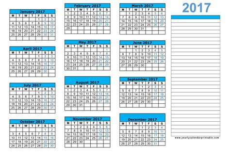 small printable yearly calendar 2016 wake county 2017 year round calendar download pdf