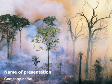 forest fire presentation template for powerpoint and