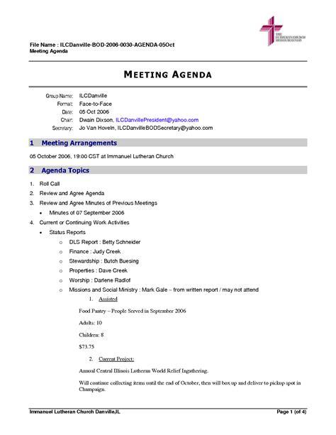 church minutes template best photos of church business meeting agenda template