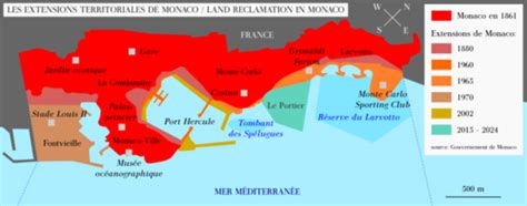 Geos Mere Et Moi Blue Map land reclamation in monaco