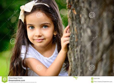hispanic girls portrait of hispanic girl in sunny park royalty free stock