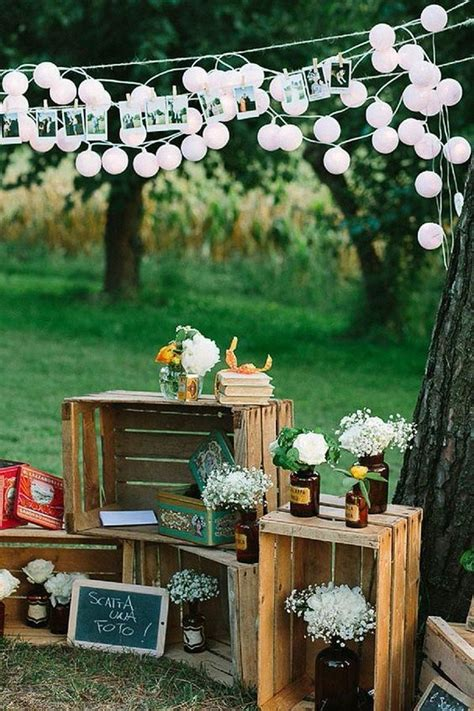 24 ideas to use wood pallet for your country wedding
