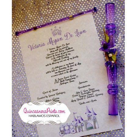 Sponsor Letter For Quince quinceanera plastic invitations purple floral