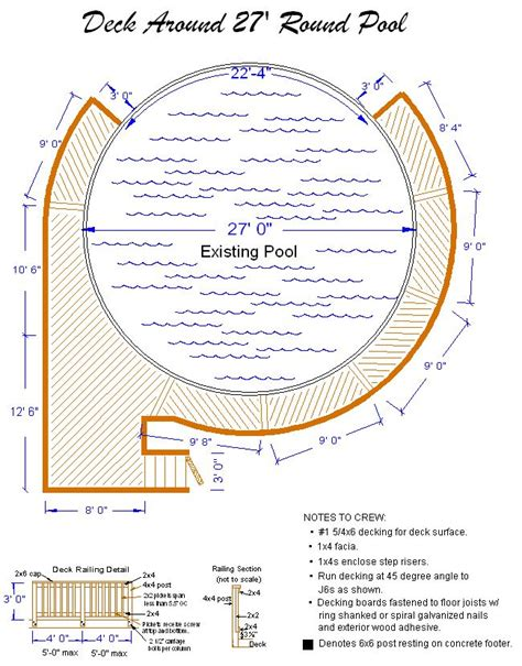 pool plans free pool deck plans build a deck around your above ground