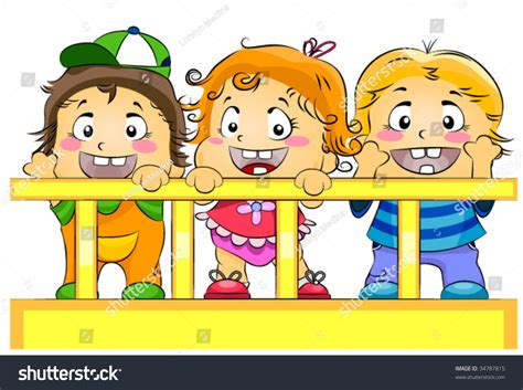 daycare baby cribs toddlers crib day care vector stock vector 34787815