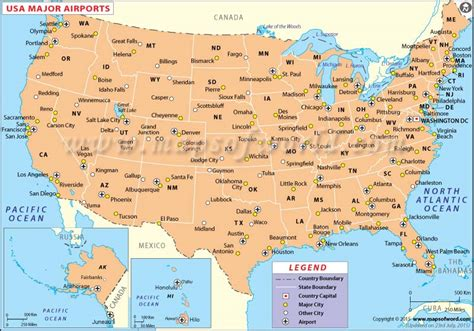 usa towns map of usa with capitals and major cities