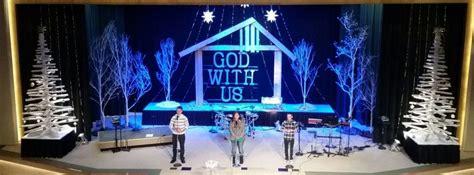 manger frame stage design church stage design christmas